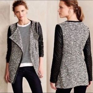 Anthropologie Cartonnier Tweed Black Vegan Leather